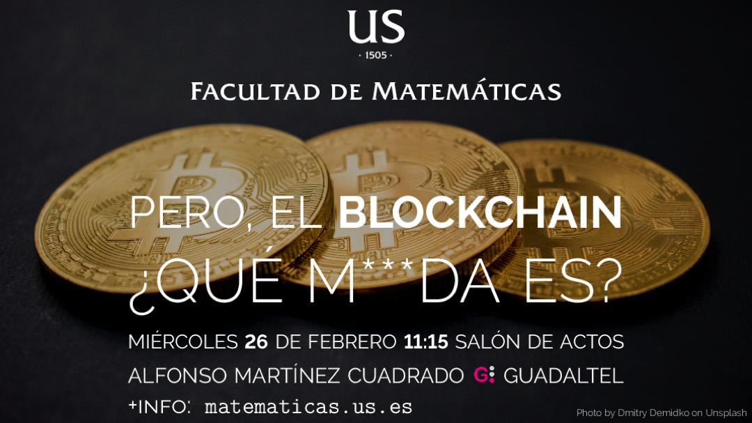 cartel charla Facultad de Matemáticas